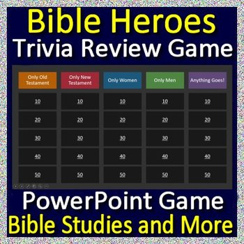 Bible Heroes Review Game - Learn about the people from the Bible playing a game!