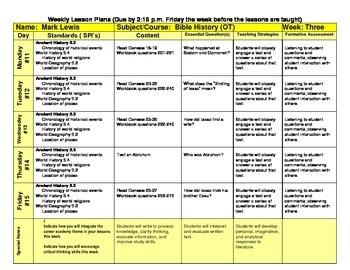 Bible History Lesson Plans