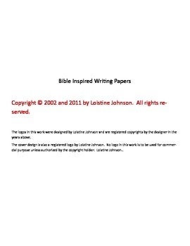 Bible Inspired Writing Papers