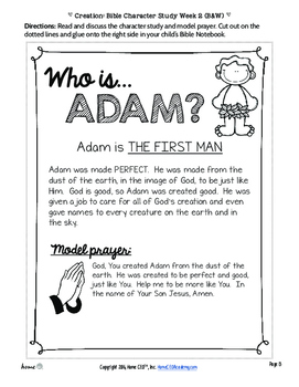Creation Bible Lesson (Part 2 of 3: Adam and Eve's Creation)