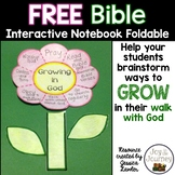 FREE Bible Interactive Notebook Foldable: Growing in God