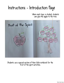 Bible Interactive Notebook: Fruit of the Spirit