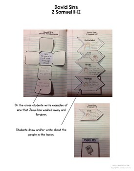 Bible Interactive Notebook: Old Testament Add-On: David