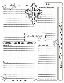 Bible Journal Entries - Faith Set