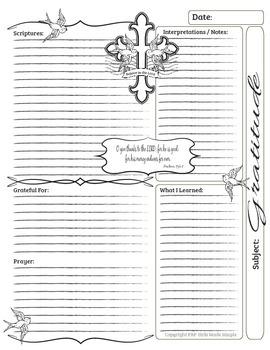 Bible Journal Entries - Gratitude Set