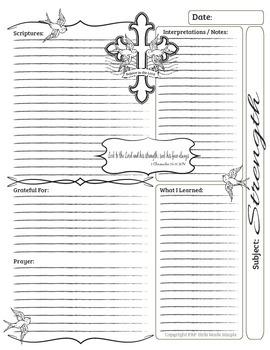 Bible Journal Entries - Strength Set