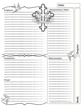 Bible Journal Entry - Upgraded Design Blanks!