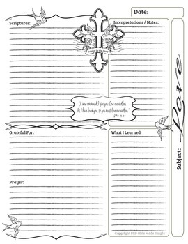 Bible Journal Full Set ( Faith, Love, Strength and Gratitude)