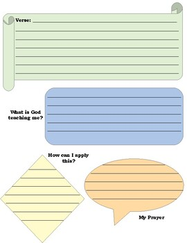 Bible Journal Pages