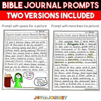 Bible Journal Prompts