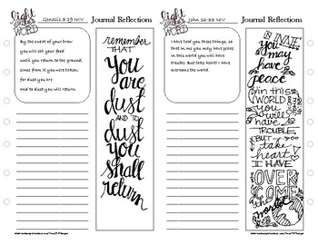 Bible Journaling Workbook Pages - FREEBIE by 347Designs | TpT