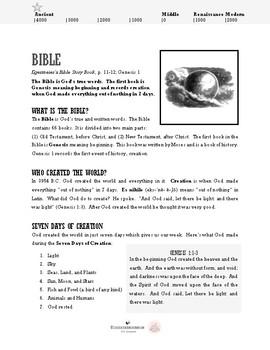 Bible Lesson 1.1 - Creation