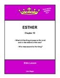 Bible Lesson -  Esther (Chapter 10) (NKJV) w/TAK - No Prep