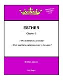 Bible Lesson -  Esther (Chapter 3) (NKJV) w/TAK - No Prep/