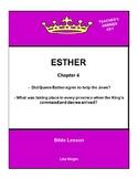 Bible Lesson -  Esther (Chapter 4) (NKJV) w/TAK - No Prep/