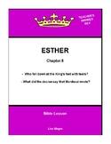 Bible Lesson -  Esther (Chapter 8) (NKJV) w/TAK - No Prep/