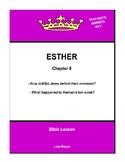 Bible Lesson -  Esther (Chapter 9) (NKJV) w/TAK - No Prep/