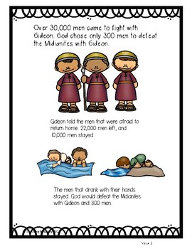 Bible Lesson:  Gideon and his 300 men (All about Series)