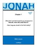 Bible Lesson -  Jonah (Chapter 1) (NKJV) w/TAK - No Prep/