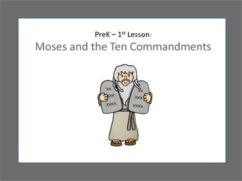 Christian Education: Bible Lesson: Moses