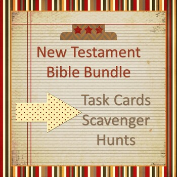 Bible Lesson Task Card Bundle - Three Sets of Stories