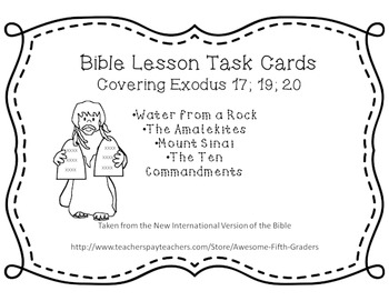 Bible Task Cards - Moses