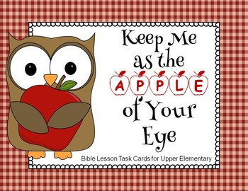 Bible Task Cards:  Apple of His Eye