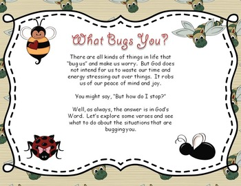 Bible Task Cards:  Don't Let it Bug You!