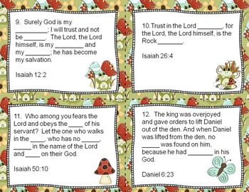 Bible Task Cards - F-R-O-G Fully Rely on God - Upper Elementary
