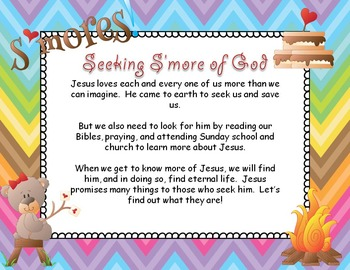 Bible Task Cards - Give me S'more of God!