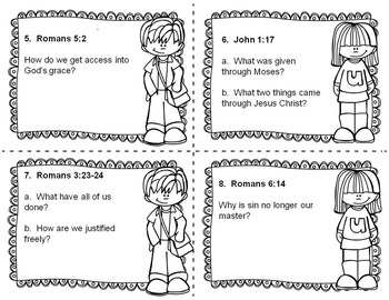 Bible Task Cards:  Grace