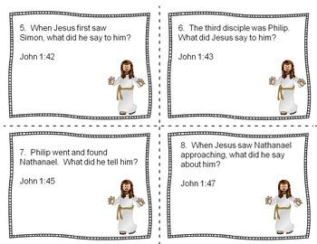 Bible Task Cards:  John 1 and 3
