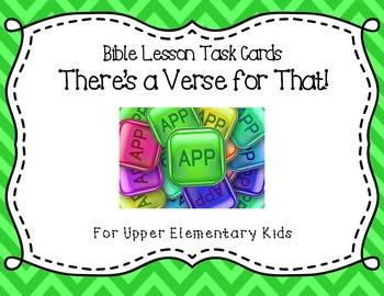 """Bible Lesson Task Cards - """"There's a Verse for That!"""""""