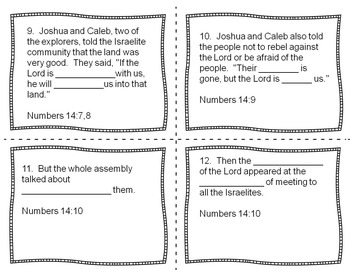 Bible Task Cards for Upper Elementary - Exploring Canaan