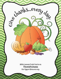 Bible Lesson Task Cards on Thankfulness