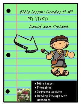 David and Goliath Bible Lesson (My Story Series)(1st-4th grade)