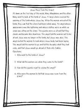 Bible Lessons: My Story: The Easter Story
