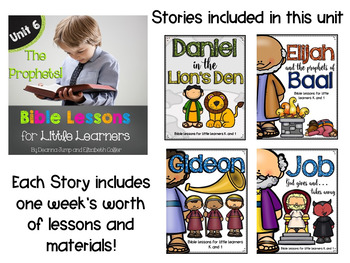 Bible Lessons for Little Learners: UNIT SIX