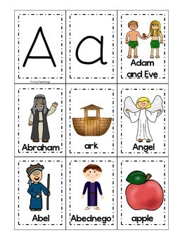 Bible Letter of the Week Curriculum. Letters A-Z