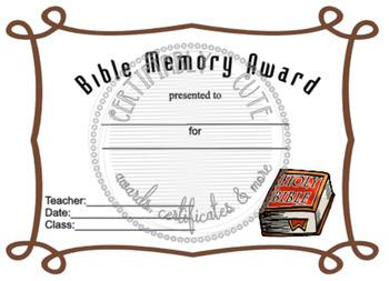 Bible Memory Awards 1