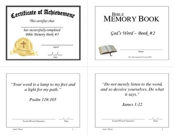 Bible Memory Books