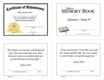 Bible Memory Books