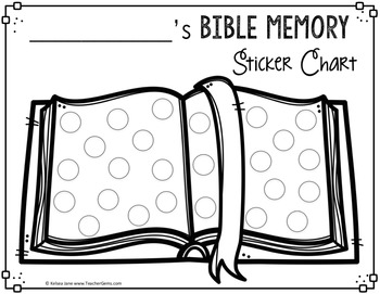 Bible Memory Sticker Chart