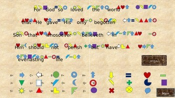 Bible Memory Tool John 3:16 Cipher and Memory Activity