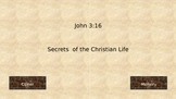 Bible Memory Tool John 3:16 Cipher and Memory Activity