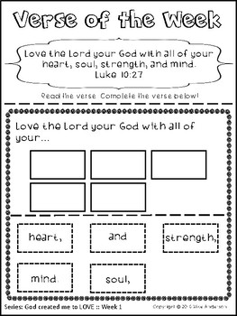 Memory Verses about LOVE | 35 Activities