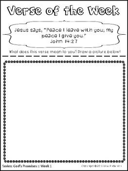 Bible Memory Verse Activities for KIDS-God's Promises