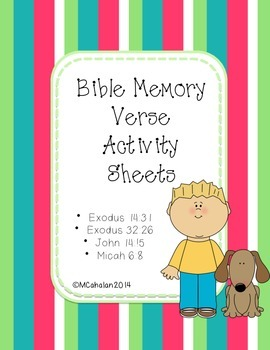 Bible Memory Verse Activity Sheets (Pack 2)