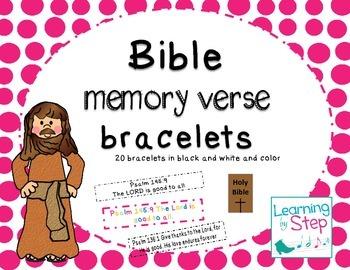 Bible Memory Verse Bracelets