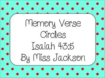 Bible Memory Verse Circles